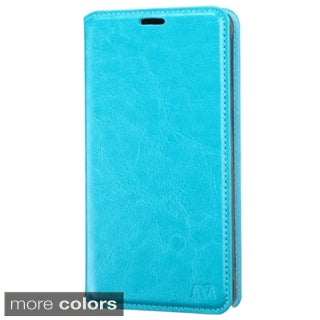 Insten Blue Leather Phone Case Cover with Stand/ Wallet Flap Pouch For Samsung Galaxy Note 4