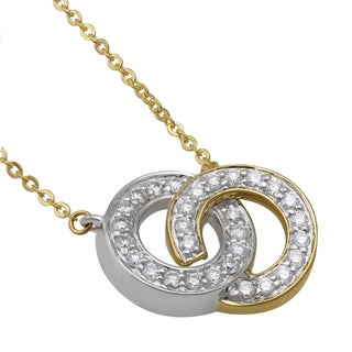 Beverly Hills Charm 10k Gold 1/2ct TDW 'Together Forever' Interwined Circles Diamond Necklace (H-I, I2-I3)