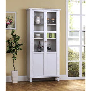 Interior Kitchen Pantry Storage Cabinet kitchen pantry storage for less overstock com wood and glass 2 door cabinet 69