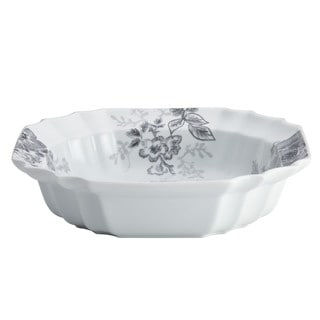 BonJour Dinnerware Shaded Garden 10 1/2-inch Slate Porcelain Serving Bowl