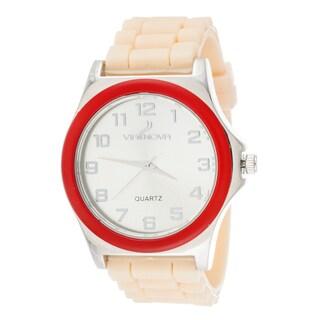 Xtreme Via Nova Women's Silver Case Orange Ring with Orange Rubber Strap Watch