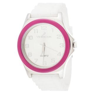 Xtreme Via Nova Women's Silvertone Pink Ring Watch