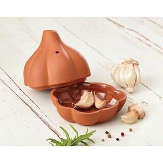 Rachael Ray Cucina Stoneware 4 1/2-inch Terra Cotta Garlic Roaster