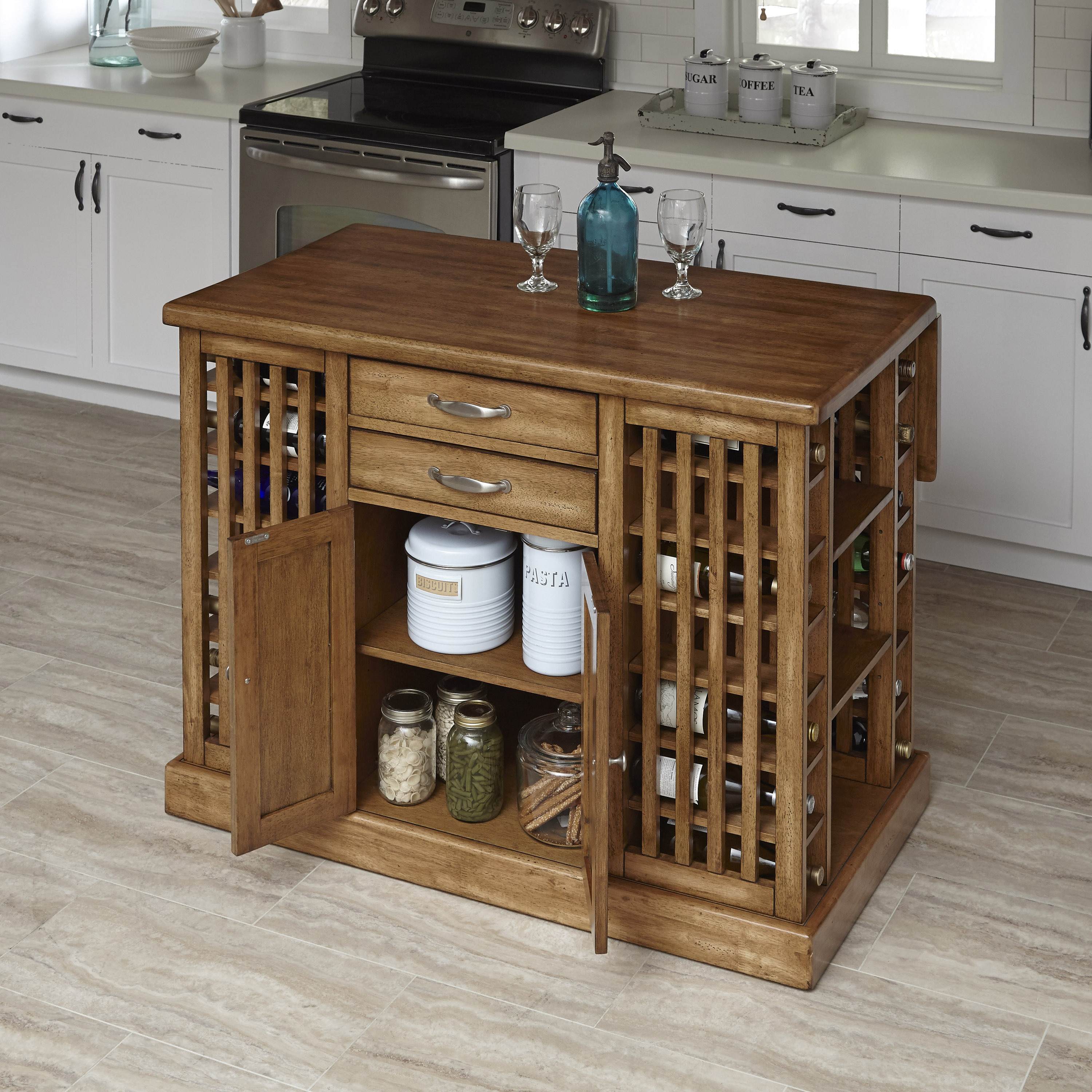 Shop Simple Living Rolling Galvin Microwave Cart: Shop The Vintner Kitchen Island By Home Styles