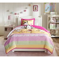 Mi Zone Kids Monkey Madness Pink Comforter Set