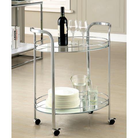 Silver Orchid O'Fredericks Contemporary 2-shelf Serving Cart