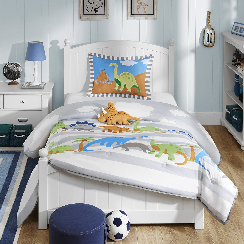 Boy Zone Dinosaurs Full Queen Comforter 2 Shams Pillows Bedding Boys Bedroom