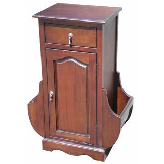 D-Art Mahogany Magazine Side Table (Indonesia)