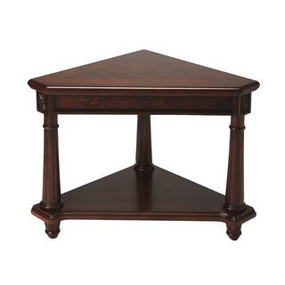 Handmade Plantation Cherry Wooden Regal Corner Table (China)
