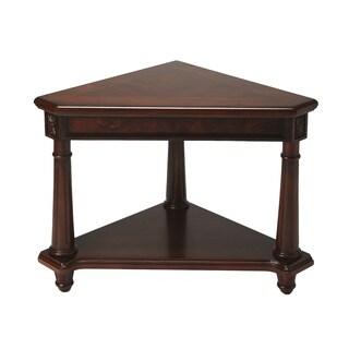 Handmade Plantation Cherry Wooden Regal Corner Table (China)