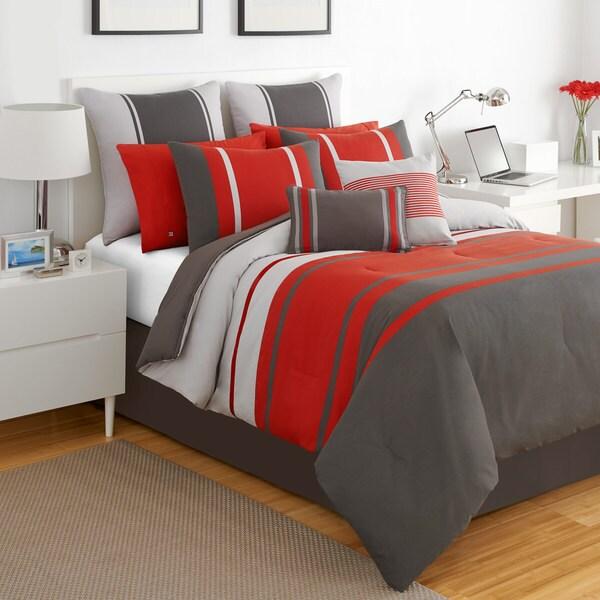IZOD Beacon Stripe 4-piece Comforter Set