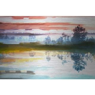 Parvez Taj 'Colorful Lake' Aluminum Art Print