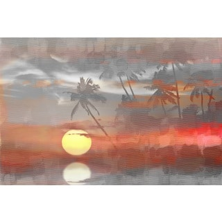 Parvez Taj 'Paradise at Sunset' Canvas Art