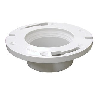 Jones Stephens 3-inch x 4-inch PVC Closet Flange Less/Knockout