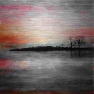 Parvez Taj 'Painted Sunset' Aluminum Print Art