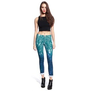 Anladia Women's Faded Blue Bleach-wash Jeans