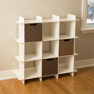 Modern 9 Cube Storage Bookcase
