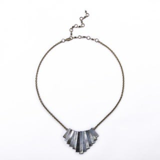 Reversible Mother of Pearl Bib Necklace (China)