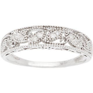 Vintage wedding rings for less overstock 10k white gold 18ct vintage style diamond band junglespirit Image collections