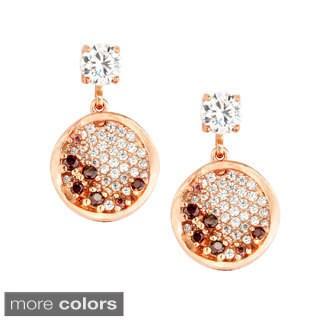 La Preciosa Sterling Silver Cubic Zirconia Circle Earrings