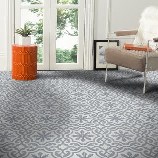 Argana Grey and White Handmade Moroccan 8 x 8 inch Cement and Granite Floor or Wall Tile (Case of 12)|https://ak1.ostkcdn.com/images/products/9920474/P17077867.jpg?impolicy=medium