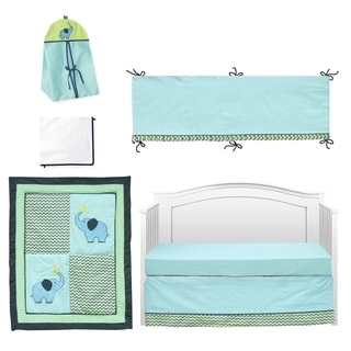 Pam Grace Creations ZigZag Elephant 10-piece Crib Bedding Set