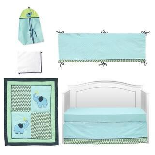 Pam Grace Creations ZigZag Elephant 10-piece Crib Bedding Set|https://ak1.ostkcdn.com/images/products/9920482/P17077893.jpg?impolicy=medium