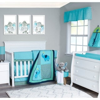 Pam Grace Chevron Elephant 6-piece Crib Bedding Set