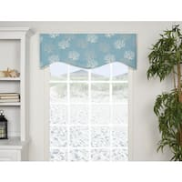 Captiva Blue Shaped Valance