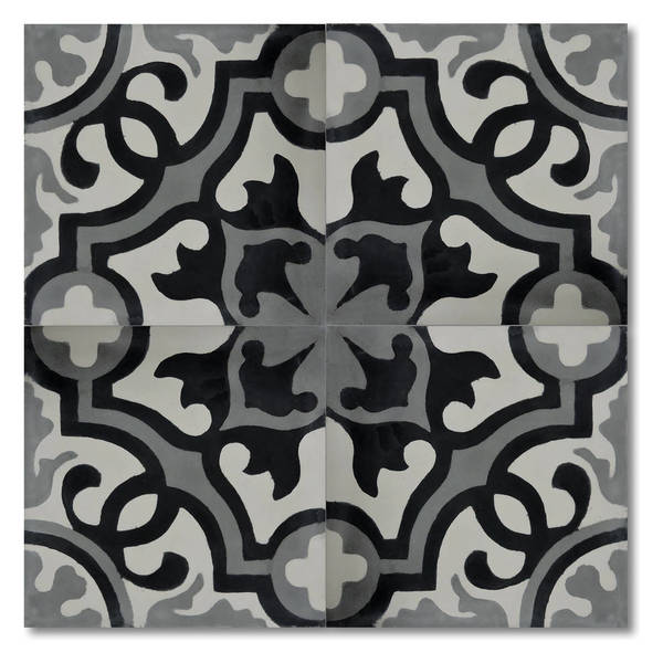 Shop Baha Black And Grey Handmade Moroccan 8 X 8 Inch