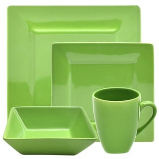 Vivo 16-piece Green Square Dinner Set