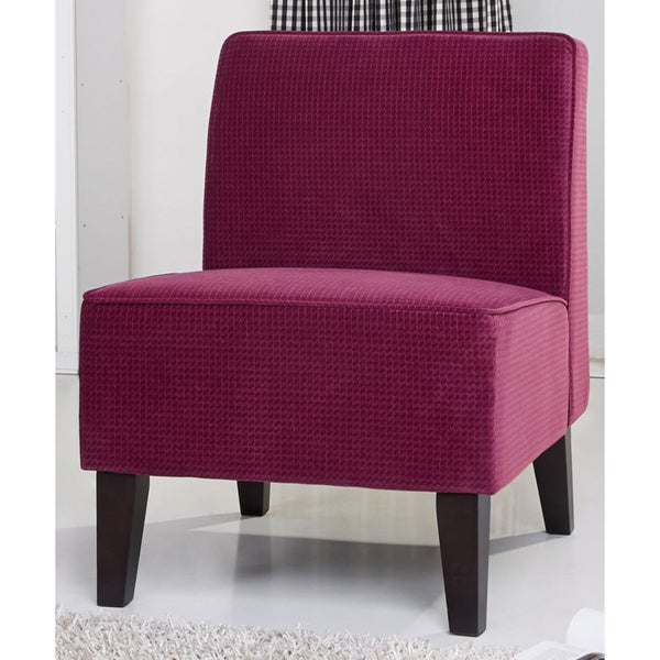 Gold sparrow plano purple fabric accent chair free for Overstock furniture and mattress plano