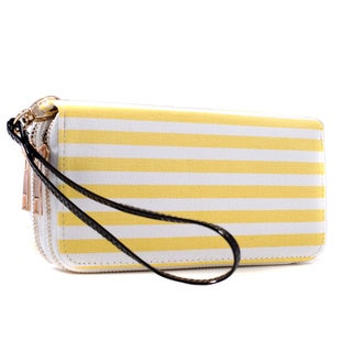 Dasein Double Zip-Around Canvas Wallet