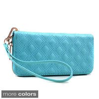 Dasein Quilted Zip-Around Wallet