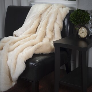 Windsor Home Luxury Long Haired Faux Fur Throw (Option: Cream)