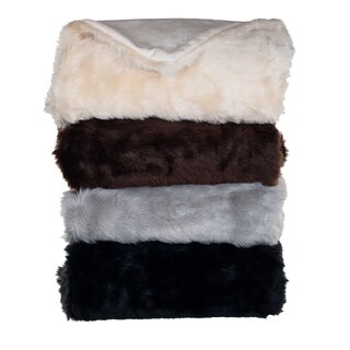 Lavish Home Luxury Long Haired Faux Fur Throw