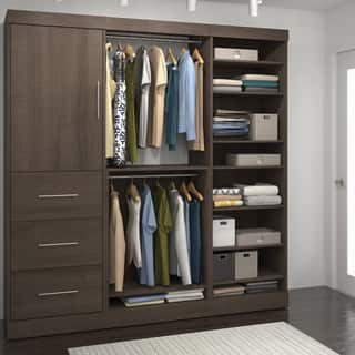 armoires wardrobe closets for less. Black Bedroom Furniture Sets. Home Design Ideas