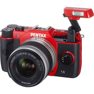 Pentax Q10 Compact Red Camera with 5-15mm Lens