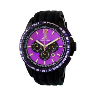 Adee Kaye Men's Terrace Collection Purple/ Black Watch