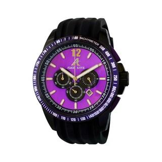 Adee Kaye Men's Terrace Collection Purple/ Black Watch