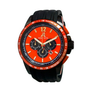 Adee Kaye Men's Terrace Collection Red Orange Watch