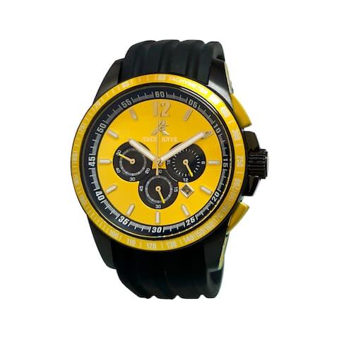 Adee Kaye Men's Terrace Collection Yellow/ Black Watch