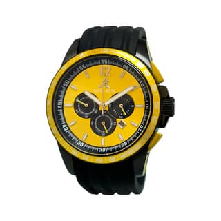 Adee Kaye Men's Terrace Collection Yellow/ Black Watch|https://ak1.ostkcdn.com/images/products/9920714/P17078145.jpg?impolicy=medium