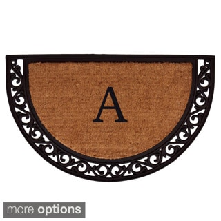 Ornate Scroll Monogram Doormat (1'6 x 2'6)