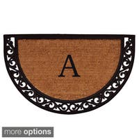 Ornate Scroll Monogram Doormat (1'6 x 2'6)