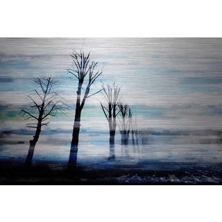 Parvez Taj 'Calming Trees' Aluminum Print Art