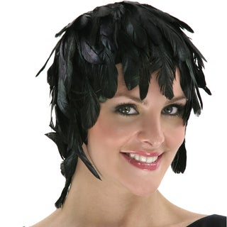 Natural Iridescent Dyed Schlappen Feather Wig