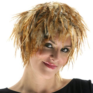 Hackle Rooster Feather Chinchilla Wig