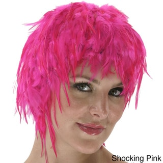 Colorful Dyed Hackle Rooster Feather Wig