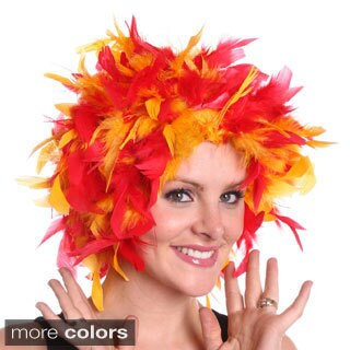 Chandelle Multicolored Feather Wig